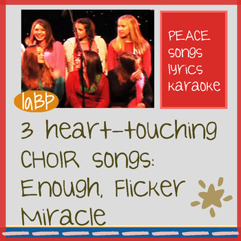 Choir songs that inspire! 3 studio recorded song tracks, w