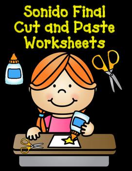 Sonido Final Cut and Paste Worksheets:  Cortar y Pegar Act