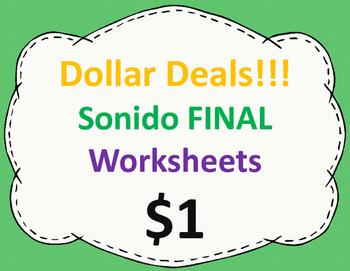 Sonido final Worksheets:  Dollar Deal