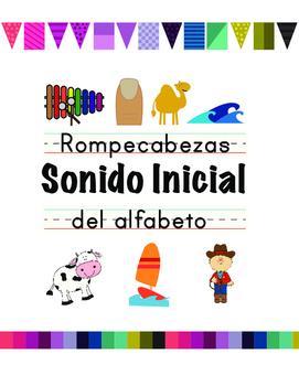 Sonido inicial (initial or beginning sound alphabet puzzle
