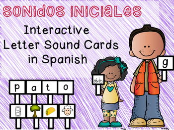 Sonidos Iniciales: Interactive Letter Sound Cards in Spanish
