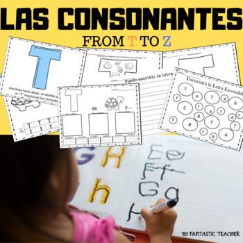 Sonidos iniciales - Beginning sounds in Spanish-( consonan