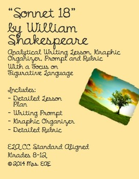 """Sonnet 18"" by William Shakespeare Analytical Writing Lesson"