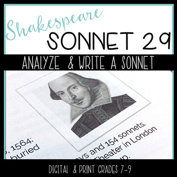 Shakespeare's Sonnet 29 -- Analysis and Creative Writing w