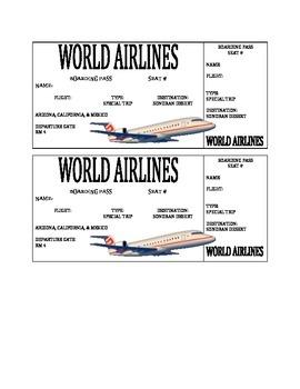 Sonoran Desert Airplane Ticket