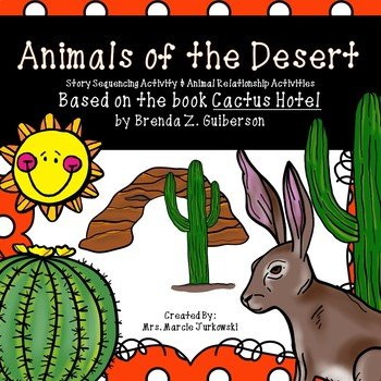 Desert Animal Diet Activities and Story Sequencing Based o