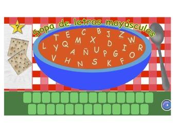 Sopa de letras y números - Para el reconocimiento de letra