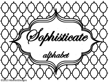 Sophisticate Alphabet