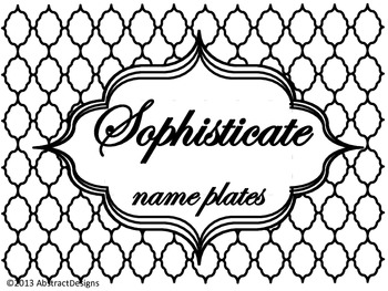 Sophisticate Name Plates
