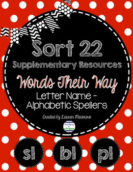 Sort 22 Supplementary Resources- Words Their Way- Letter N