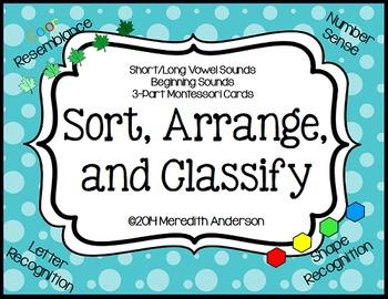 Sort, Arrange, and Classify (Sorting Mats and Activities f