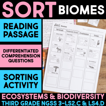 Sort Animals into Biomes - Ecosystems and Biodiversity Sci