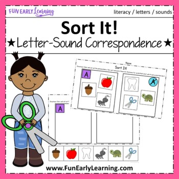 Sort It! Letter-Sound Correspondence - No Prep Interactive