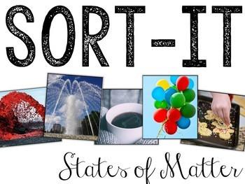 Sort-It! States of Matter (Solid, Liquid, Gas)