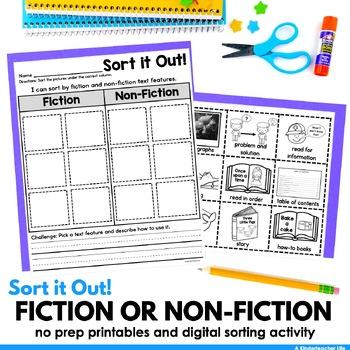 Sort Nonfiction and Fiction sentences sort it out