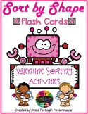 Sort by Shape Flash Cards Valentine
