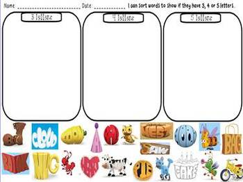Sorting 3, 4, & 5 Letter Words!