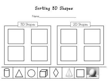 sorting 3d shapes worksheet by kinder learning garden teachers pay teachers. Black Bedroom Furniture Sets. Home Design Ideas