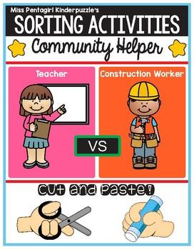 Sorting Activities Community Helper Teacher and Constructi