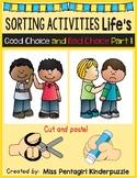 Sorting Activities Life's Good Choice and Bad Choice