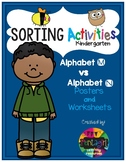 Sorting Activities Posters and Worksheets Alphabet M and N