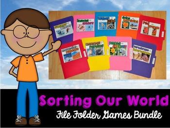 Sorting Activities:  Sorting Our World File Folder Games Bundle