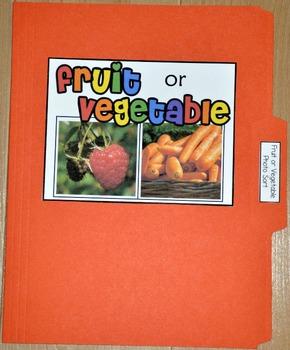 """Sorting Activity: """"Fruit or Vegetable Sort File Folder Game"""""""