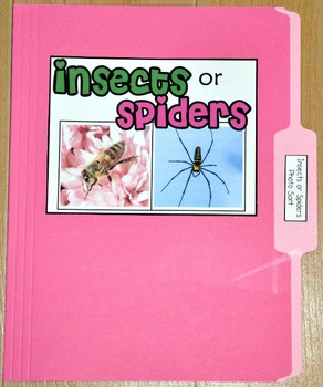 """Sorting Activity: """"Insects or Spiders Sort File Folder Game"""""""
