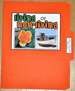 "Sorting Activity: ""Living or Non-Living Sort File Folder Game"""