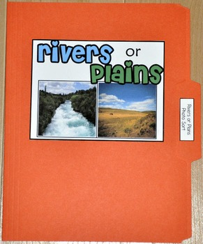 "Sorting Activity: ""Rivers or Plains Land Form Sort File Fo"