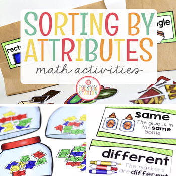 sorting by attributes math activity pack by mrs jones 39 creation station teachers pay teachers. Black Bedroom Furniture Sets. Home Design Ideas