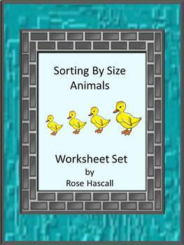 Sorting By Size Cut and Paste Fine Motor Skills Animals Wo