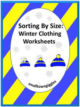 Winter Clothes Kindergarten Math Worksheets Sorting by Siz