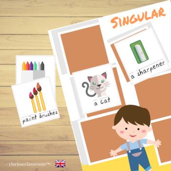 Engaging and Fun Sorting Cards Game ⎜ Singular and Plural Nouns