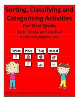 Sorting, Classifying and Categorizing Activities for First Grade