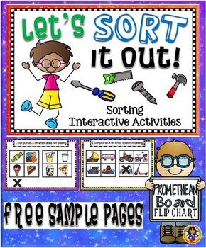 Sorting Interactive Activities – Promethean Board Flip Cha