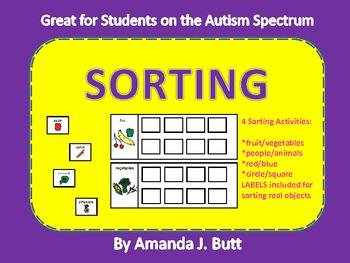 Sorting Items - Autism Spectrum: Special Ed; Regular Ed; M