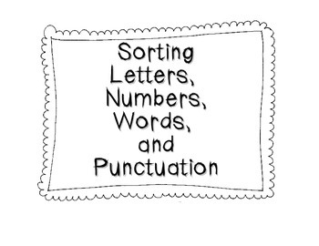 Sorting Letters, Numbers, Words, and Punctuation Free