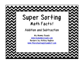 Sorting Math Facts! Common Core First Grade!