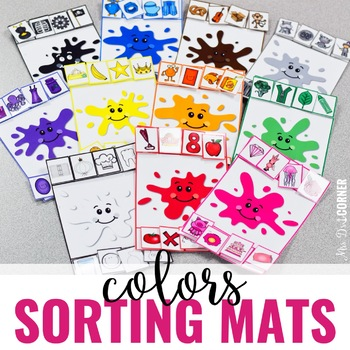 Sorting Mats for Students with Special Needs { COLORS - 11 mats }