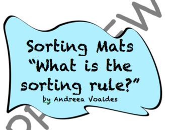 """Sorting Mats with Buttons """"What is the sorting rule?"""""""