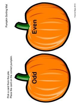 Even & Odd: Sorting Pumpkin Seeds - Grades K-1