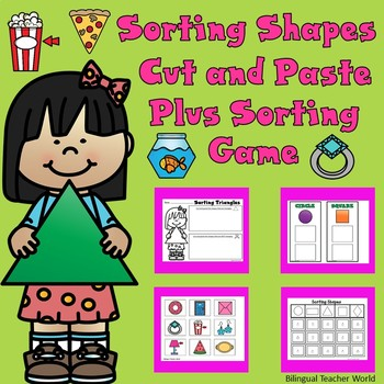 Sorting Shapes Cut and Paste