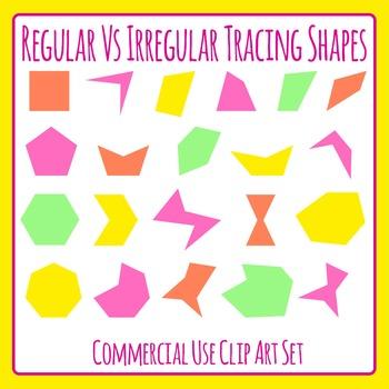 Sorting Shapes by Color / Irregular vs regular / Number of
