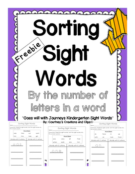 Sorting Sight Words
