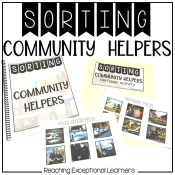 Real World Community Helpers- Sorting Book- Special Education