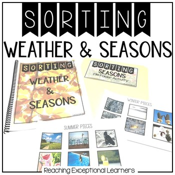 Real World Seasons & Weather- Sorting Book- Special Education
