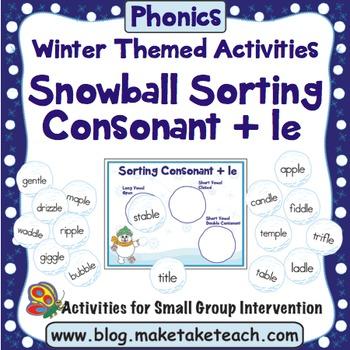Consonant + le - Sorting Snowballs