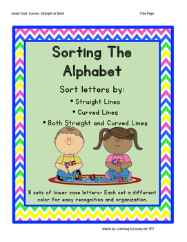 Sorting The Alphabet: 8 card sets, 3 sorting mats and more