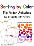 Sorting by Color {File Folder Activities for Students with